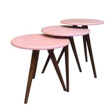 میز عسلی مدل pin کد 8439 مجموعه 3 عددی
