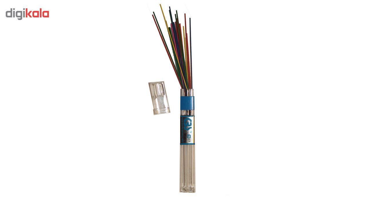نوک مداد نوکی 0.7 میلی متری سی بی اس مدل رنگی 24 عددی main 1 1