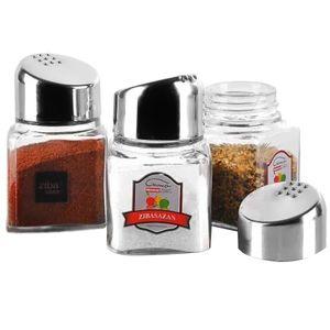 نمک پاش جفتی کرومی زیباسازان مدل سانسی