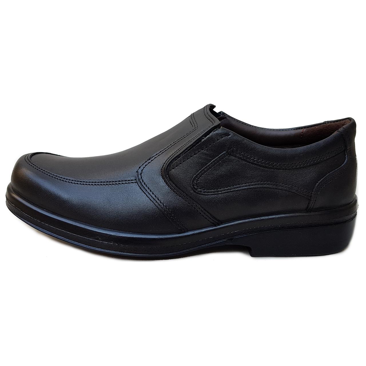 کفش مردانه چرم دیاکو مدل majlesi-keshi-mesh730