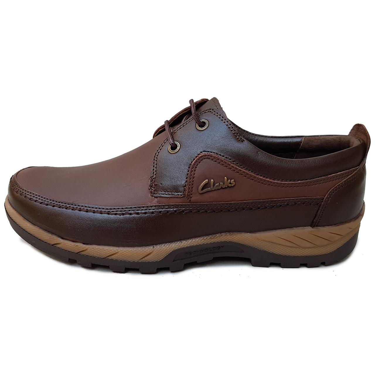 کفش مردانه چرم دیاکو مدلkelark-bandi-ghah