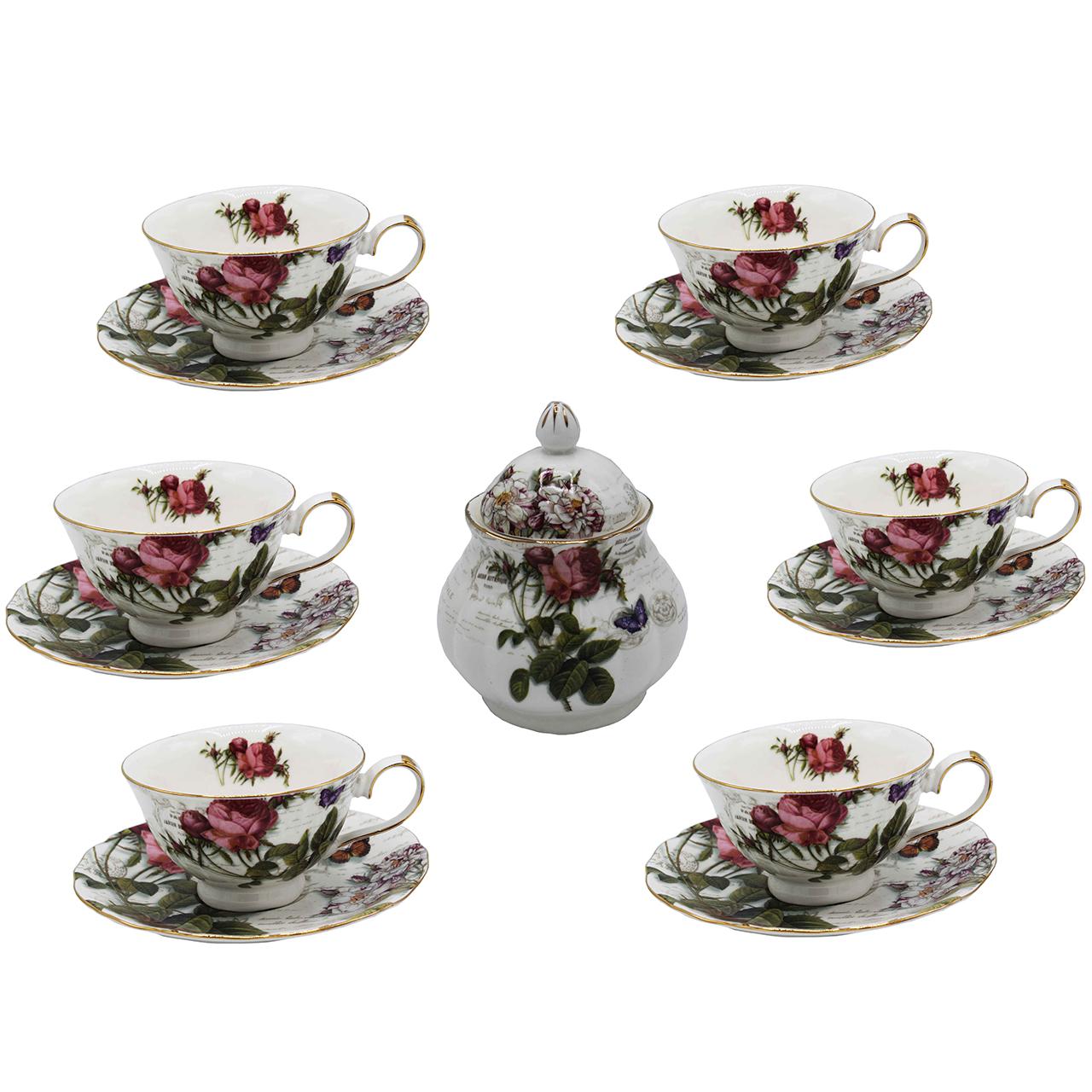 عکس سرویس چای خوری پی طرح لمونژ کد 4015