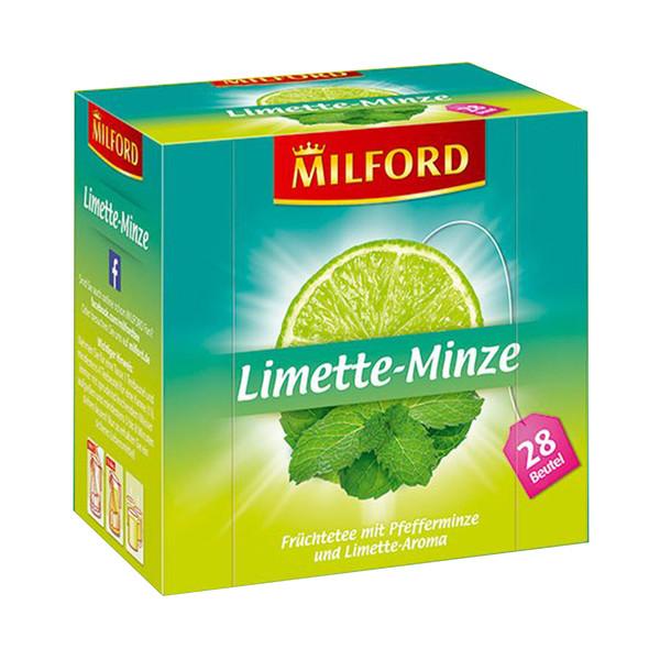 دمنوش آلمانی لیمو نعناع میلفورد مدل Limette Minze بسته 28 عددی