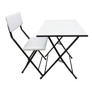 میز و صندلی تحریر سپهر یاس سفید مدل 002