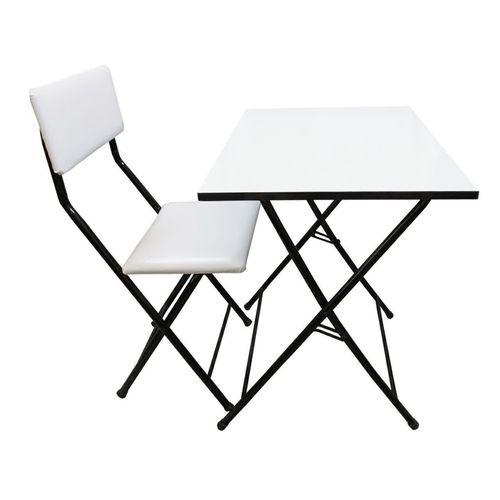 میز و صندلی تحریر یاس سفید مدل 002