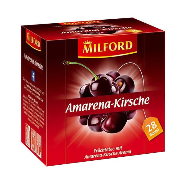 دمنوش آلمانی آمارنا گیلاس میلفورد مدل Amarena Kirsche بسته 28 عددی