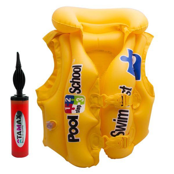 جلیقه شنای بادی مدل 28115 همراه تلمبه