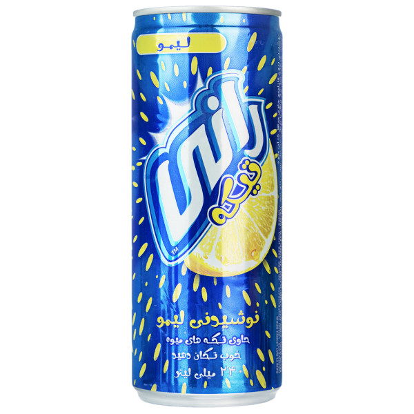 نوشیدنی لیمو با تکه های میوه رانی حجم 0.24 لیتر