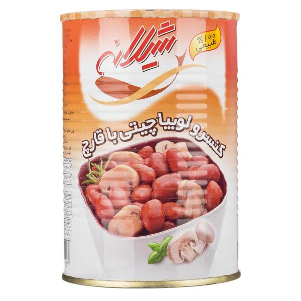 کنسرو لوبیا چیتی با قارچ شیلانه مقدار 425 گرم | Shilaneh Baked Beans With Mushrooms 425g