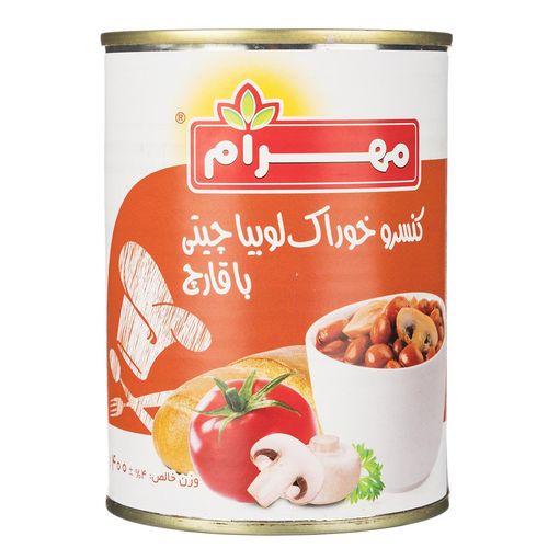 کنسرو خوراک لوبیا چیتی با قارچ  مهرام مقدار 400 گرم