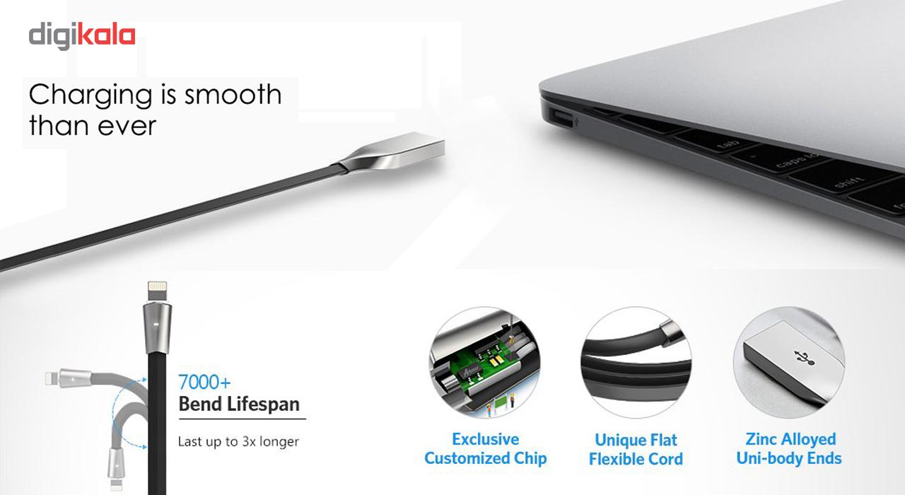 کابل تبدیل USB به لایتنینگ آیفون آیماس مدل LED به طول 1.8 متر  Aimus LED USB To Lightning Iphone C