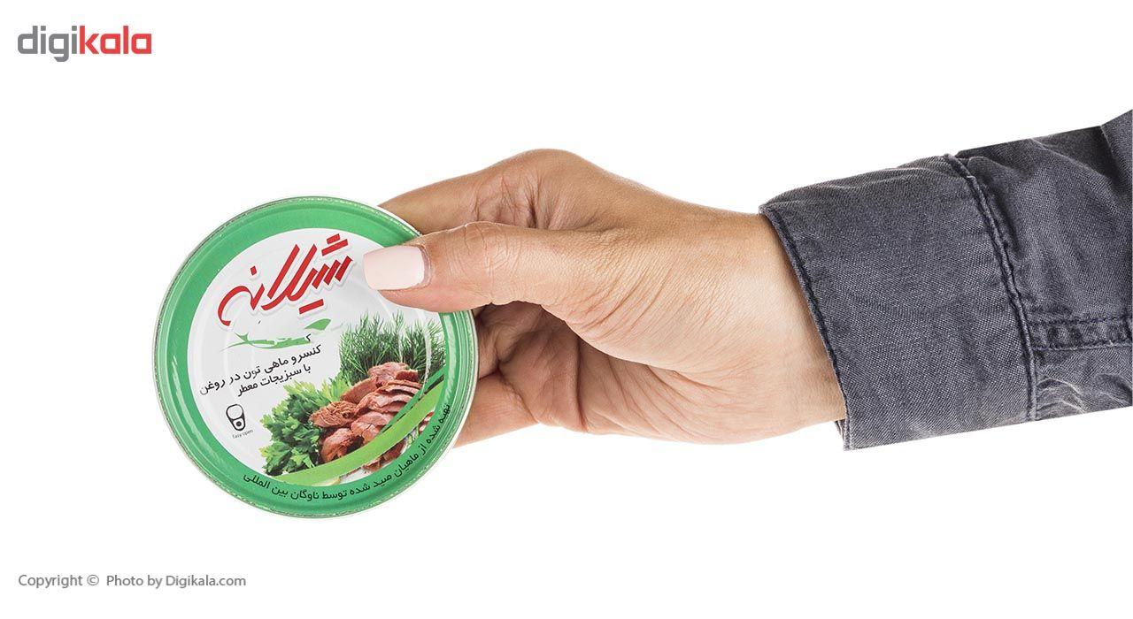کنسرو ماهی تون در روغن با سبزیجات معطر شیلانه- 180 گرم main 1 3