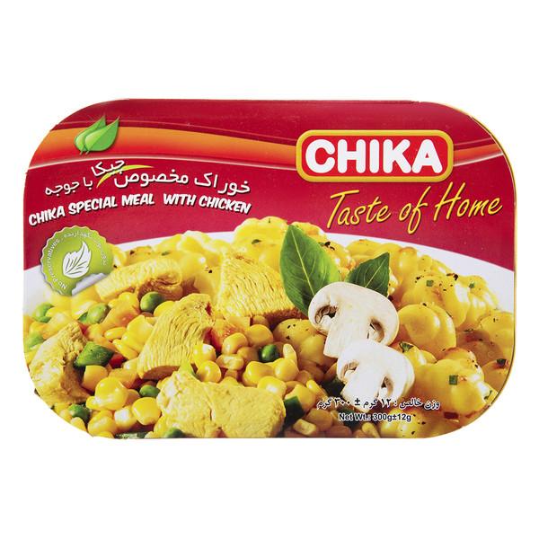 خوراک مخصوص با جوجه چیکا مقدار 300 گرم