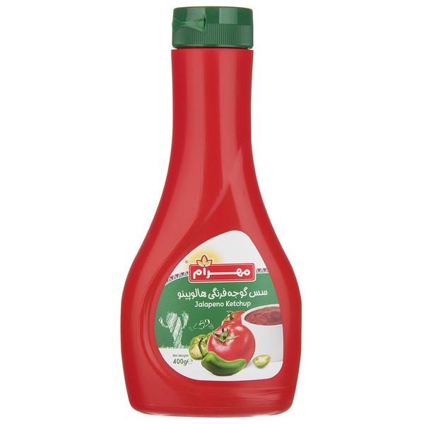 سس گوجه فرنگی هالوپینو مهرام مقدار 400 گرم
