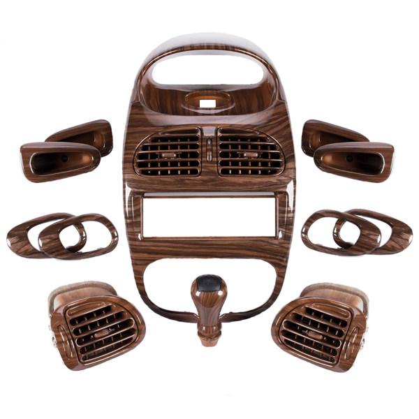 مجموعه تریم داخلی استیلا مدل چوبی مناسب برای پژو 206
