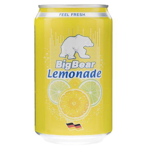 نوشابه گاز دار لیموناد بیگ بیر حجم 0.33 لیتر
