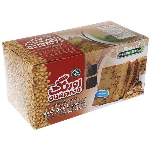 نان سنتی کاک حاوی آرد سویا با تزیین کنجد اورنگ مقدار 400 گرم
