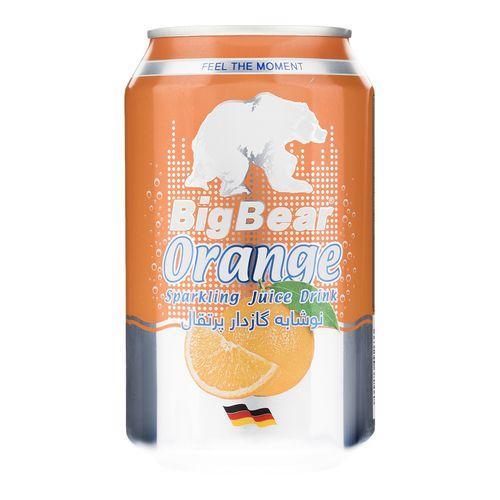 نوشابه گاز دار پرتقال بیگ بیر حجم 0.33 لیتر