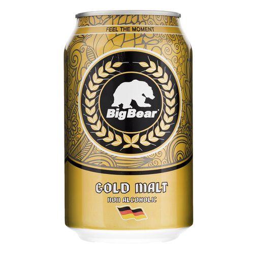 نوشیدنی مالت ساده طلایی بیگ بیر مقدار 0.33 لیتر