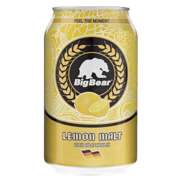 نوشیدنی مالت با طعم لیمو بیگ بیر مقدار 0.33 لیتر
