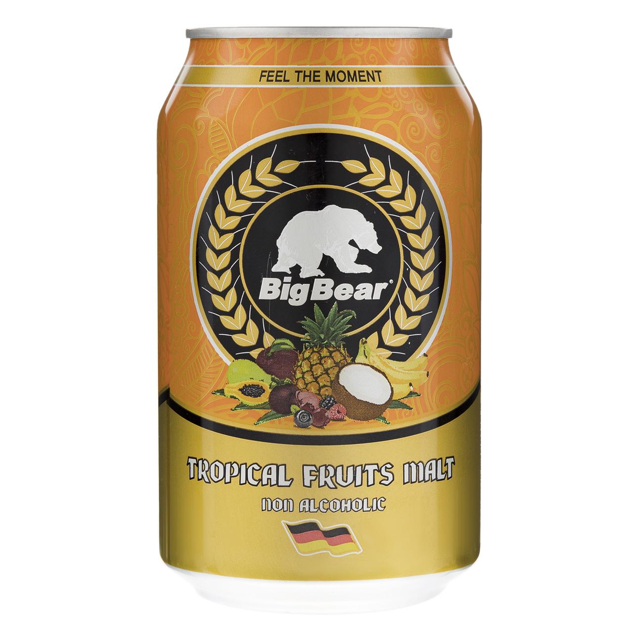 نوشیدنی مالت با طعم میوه های استوایی بیگ بیر مقدار 0.33 لیتر