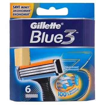 تیغ یدک 6 عددی ژیلت مدل Blue 3