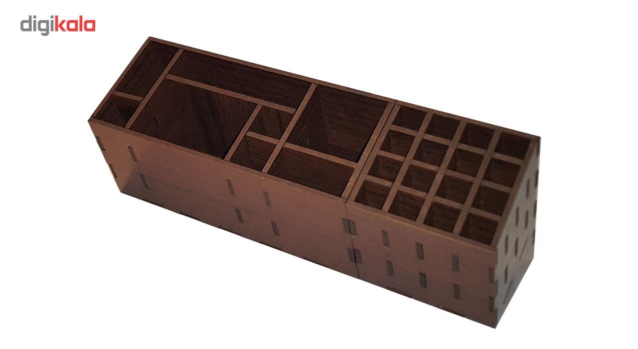 نظم دهنده چوبی لوکس طلائی مدل چندکاره main 1 6