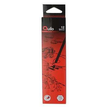 مداد مشکی کوییلو مدل Blackwood کد 634001 بسته 12 عددی