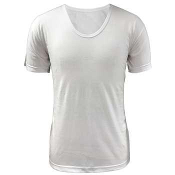 زیرپوش مردانه آریان نخ باف کد1211 بسته 12 عددی مدل نیم آستین سفید