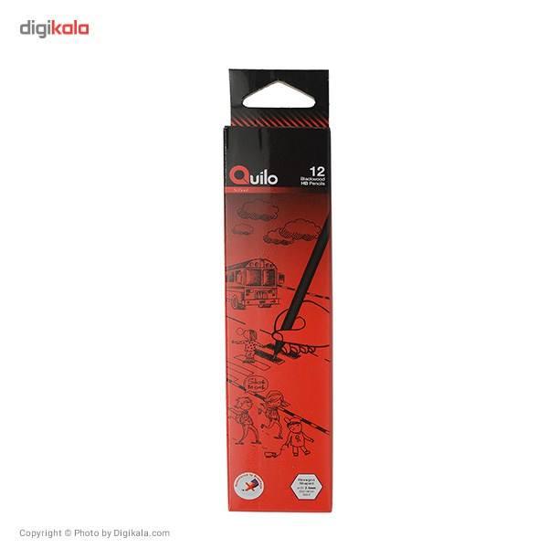 مداد مشکی کوییلو مدل Blackwood کد 634001 بسته 12 عددی main 1 1
