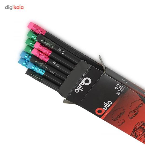 مداد مشکی کوییلو مدل Blackwood کد 634001 بسته 12 عددی main 1 2