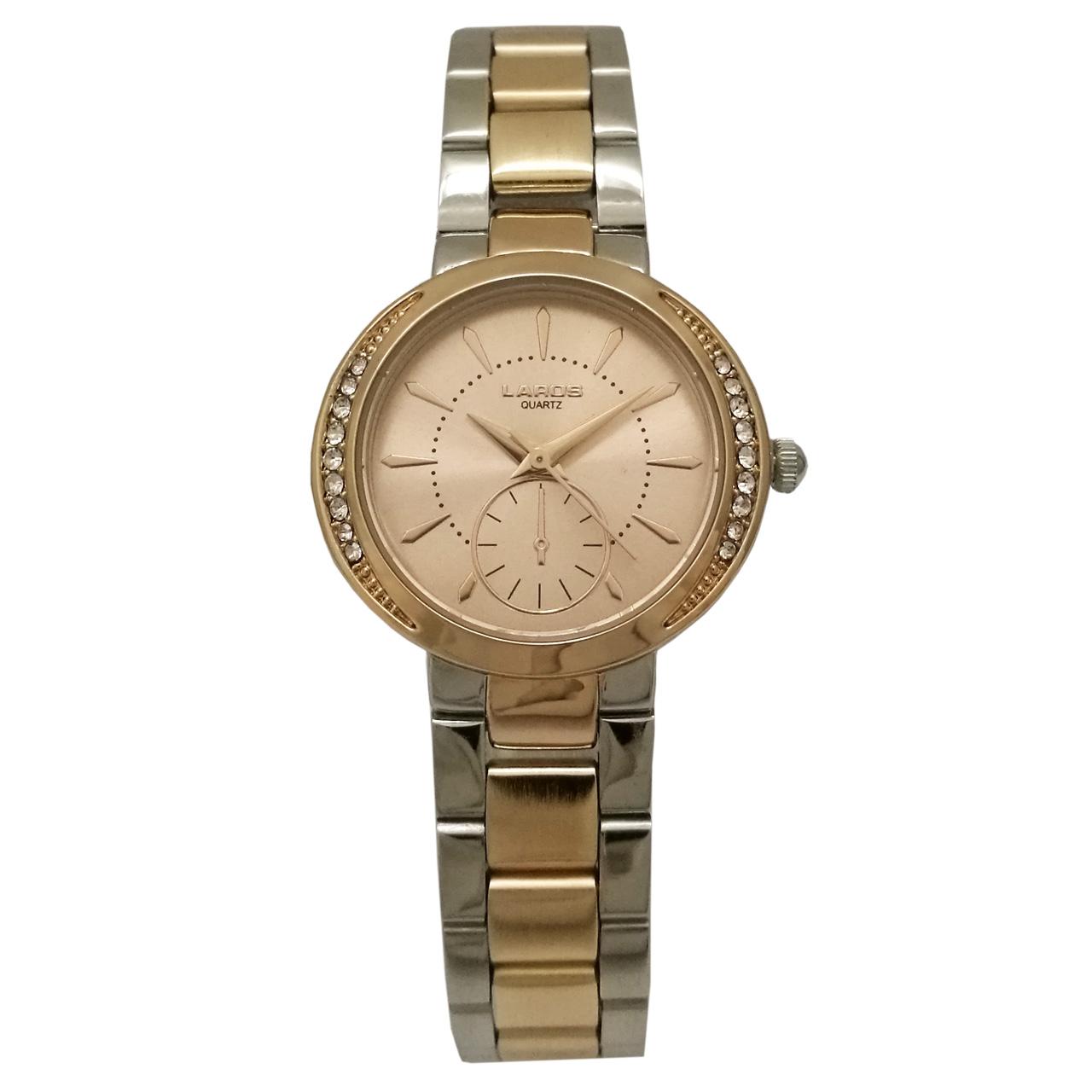 ساعت مچی عقربه ای زنانه فلزی رزگلد لاروس مدل 1117-80156