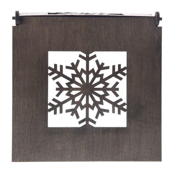 جاشمعی چوبی دیواری طرح کریستال گالری اگزیس کد EXI 63 005