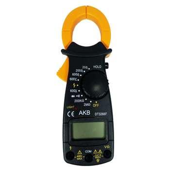 مولتی متر کلمپی مدل DT3266F به همراه 4 عدد باتری نیم قلمی