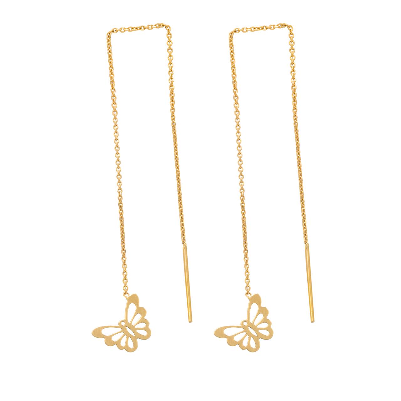 قیمت گوشواره طلا 18 عیار سپیده گالری کد SE0024