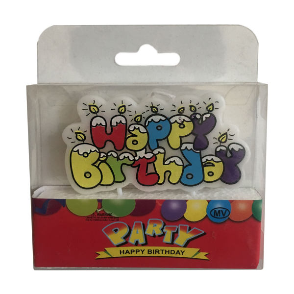 شمع تولد بانیبو مدل Happy Birthday Candle05
