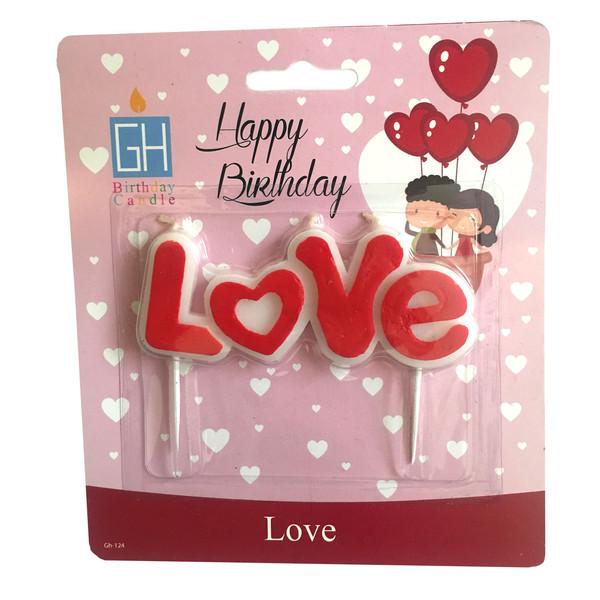 شمع تولد بانیبو مدل Love02