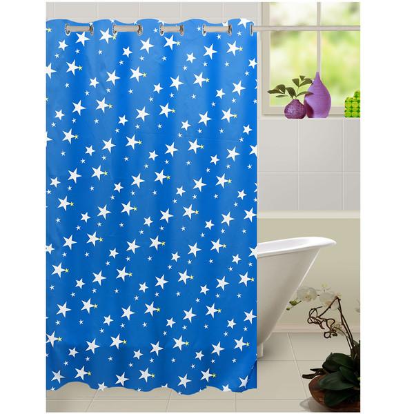 پرده حمام طراحان دیبا مدل Star سایز 150 × 180 سانتی متر