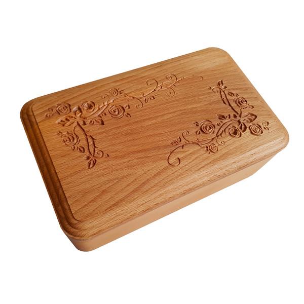 جعبه قاشق و چنگال چوبی تی دار مدل Dt10