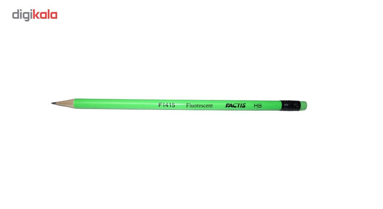 مداد مشکی فکتیس کد F1415 بسته 4 عددی main 1 2