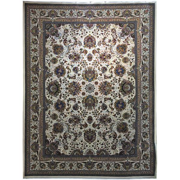 فرش ماشینی عظیم زاده طرح یاشار  کد 9046