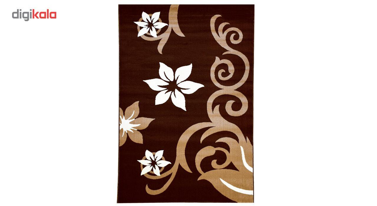 فرش ماشینی سهند کد C001.XO طرح فانتزی زمینه قهوه ای main 1 1