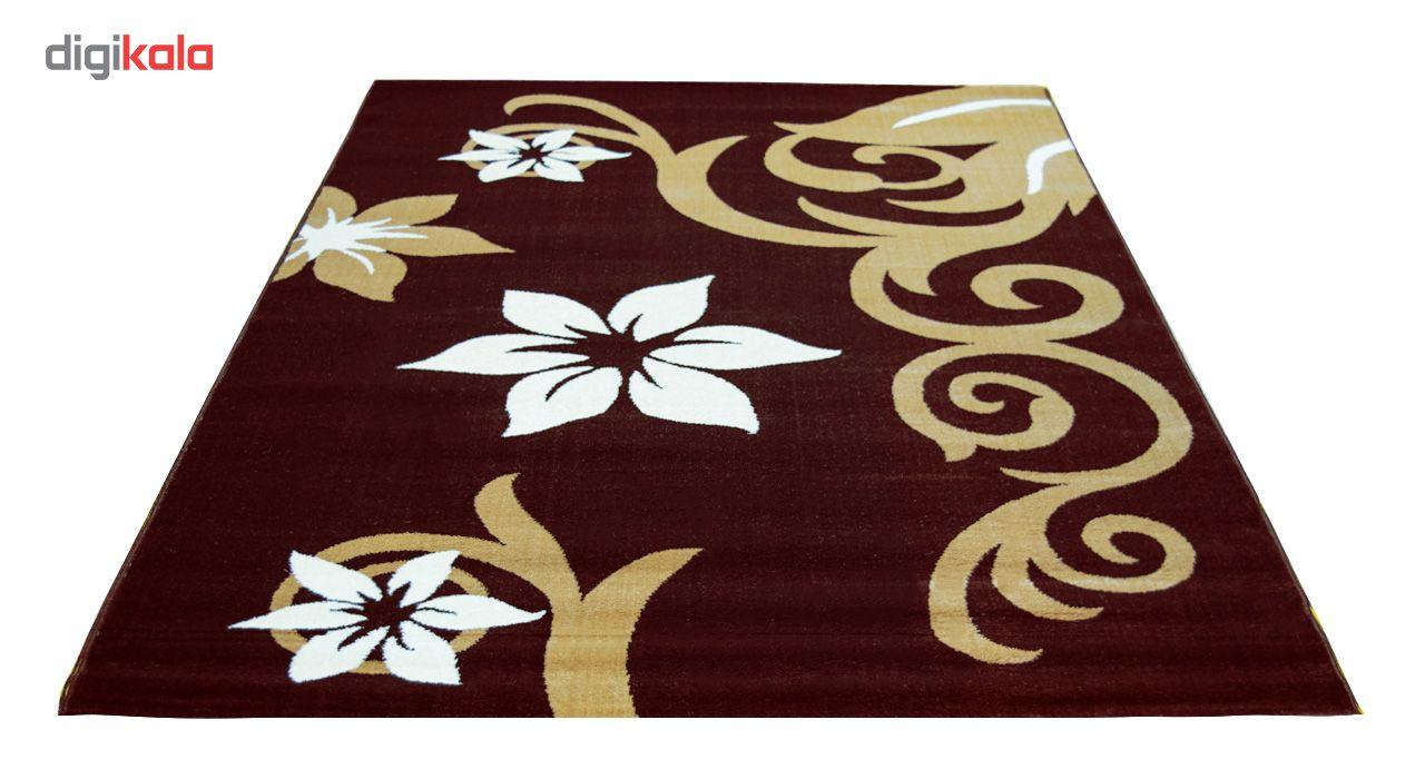 فرش ماشینی سهند کد C001.XO طرح فانتزی زمینه قهوه ای main 1 2