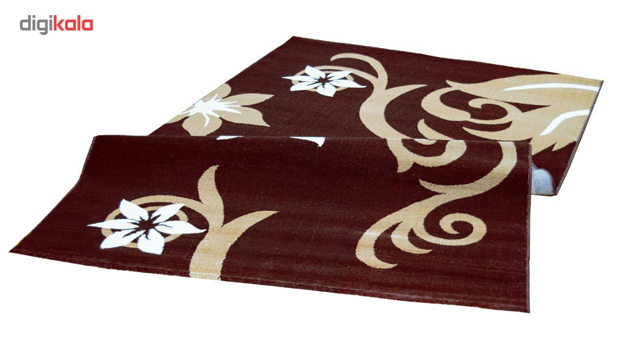 فرش ماشینی سهند کد C001.XO طرح فانتزی زمینه قهوه ای main 1 3