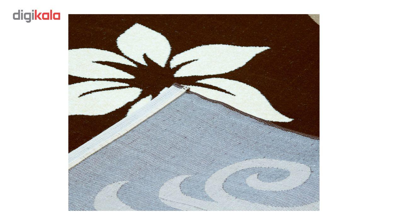فرش ماشینی سهند کد C001.XO طرح فانتزی زمینه قهوه ای main 1 4