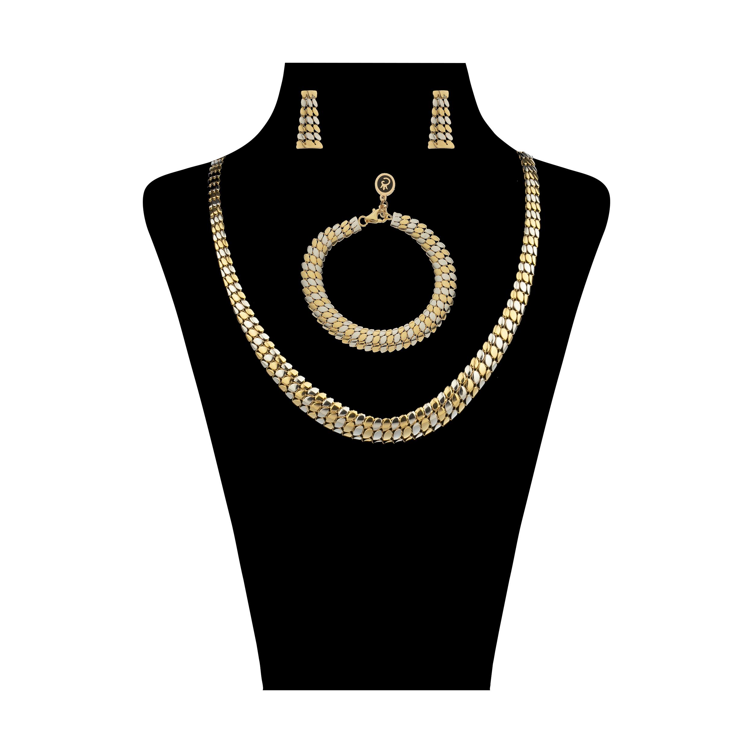 نیم ست طلا 18 عیار زنانه مایا ماهک مدل MS0556