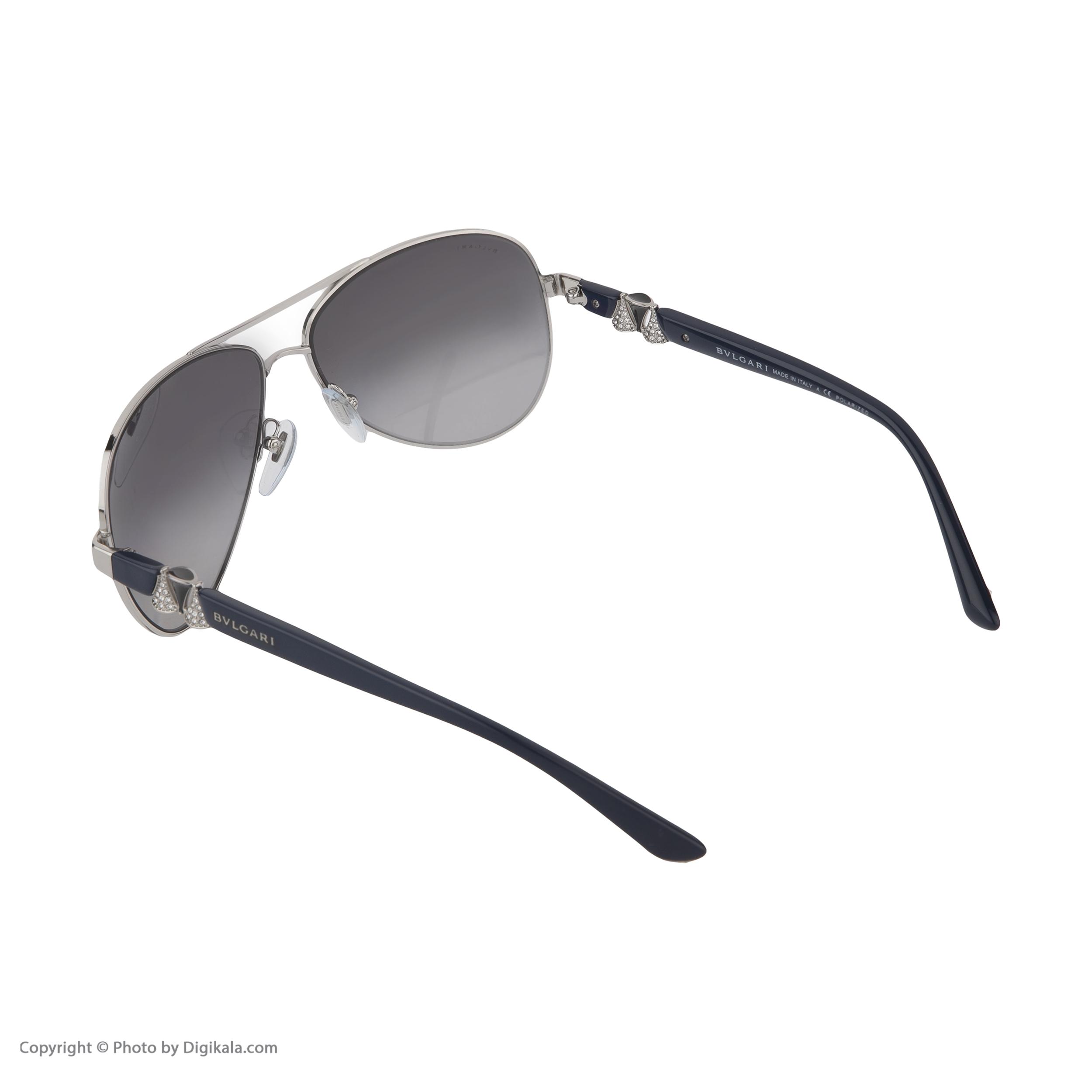 عینک آفتابی زنانه بولگاری مدل  BV6080B 0102T3 -  - 5
