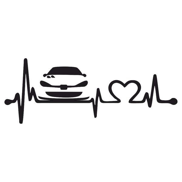 برچسب بدنه خودرو ماتریسیو طرح ضربان قلب ماشین 206 کد M19