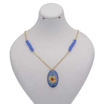 گردنبند طلا 24 عیار زنانه طرح برگ و قلب کد 300001