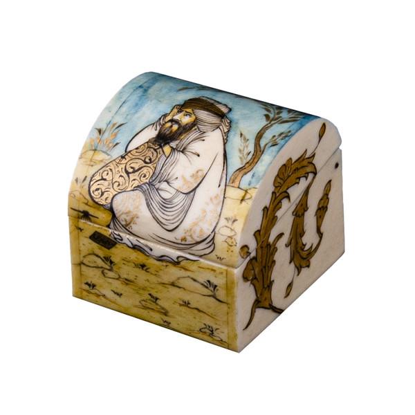جعبه جواهرات استخوانی طرح مجنون صفوی مدل میشا کد2